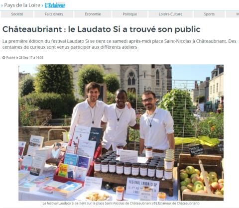 Pour l'Eclaireur de Châteaubriant «Laudato Si a trouvé son public»