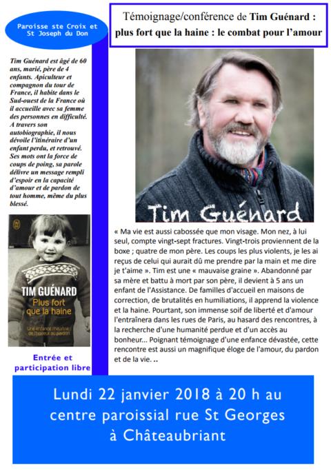 Témoignage/conférence de Tim Guénard