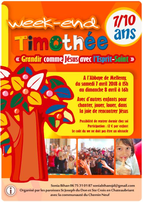 Week-end Timothée 7/10 ans