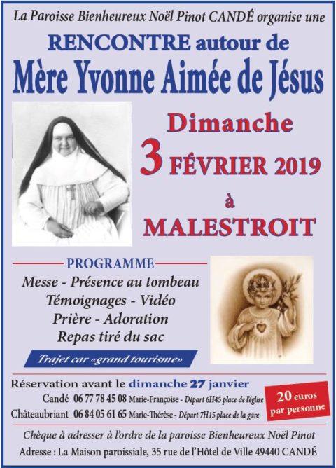 Rencontre autour de Mère Yvonne Aimée de Jésus